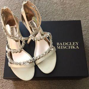 Badgley Mischka Belvedere Embellished Wedge